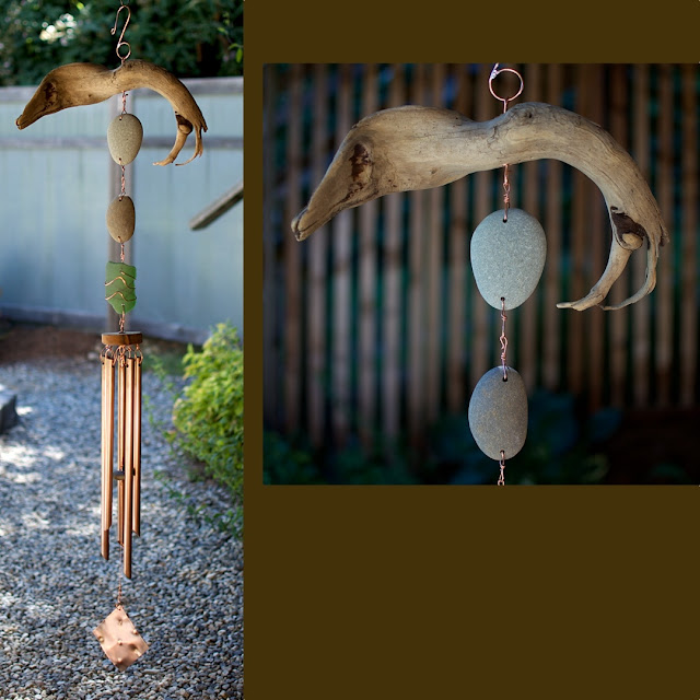 Beach comber's outdoor large wind chime