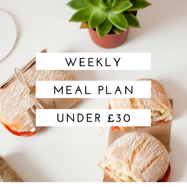 Weekly Meal Plan Under £30