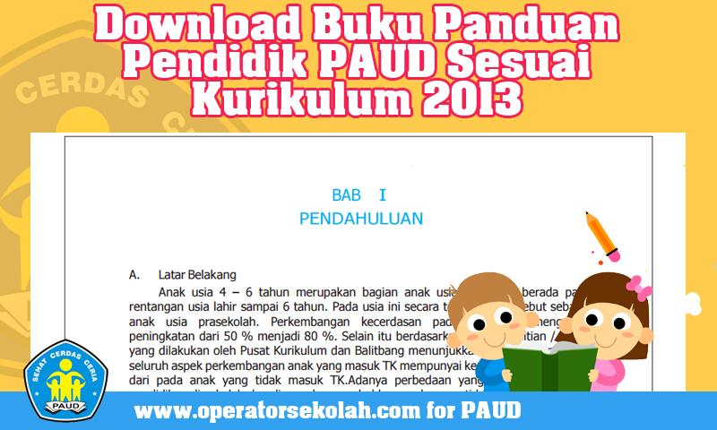 Download Pedoman Pengembangan Pembelajaran Kurikulum 2013 PAUD