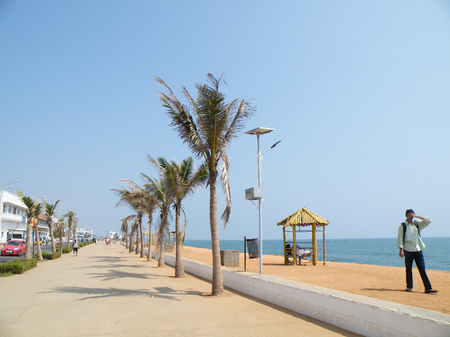 Beach Promande near Gandhi statue Pondicherry India- Pick, Pack, Go