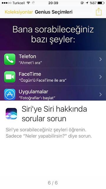 iPhone 7 Yeni Siri özellikleri ve sorabileceğiniz sorular