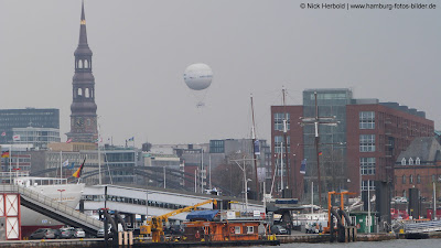 Highflyer , Ballon über Hamburg
