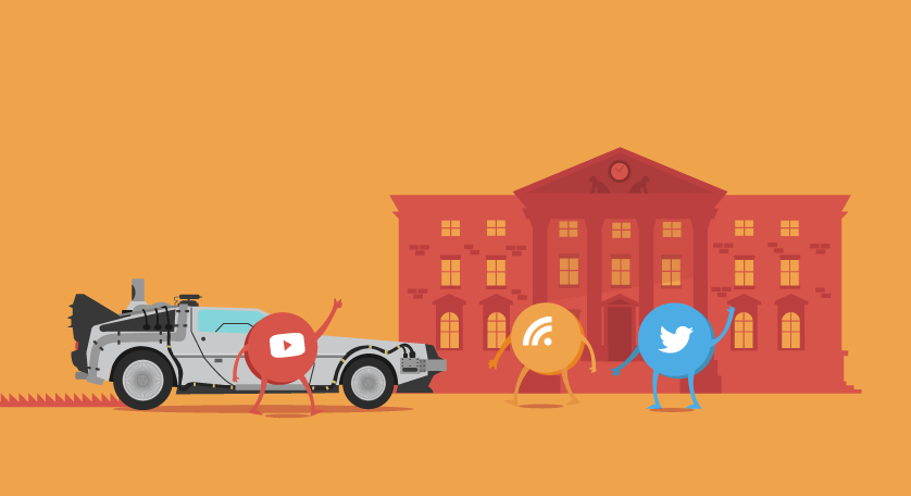 Back To The Future: Content Marketing Edition - #Infographic