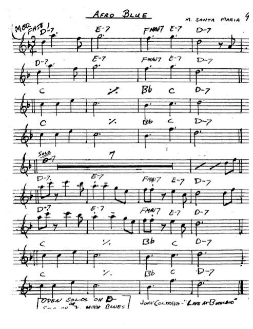 Partitura Saxofón Santa Maria