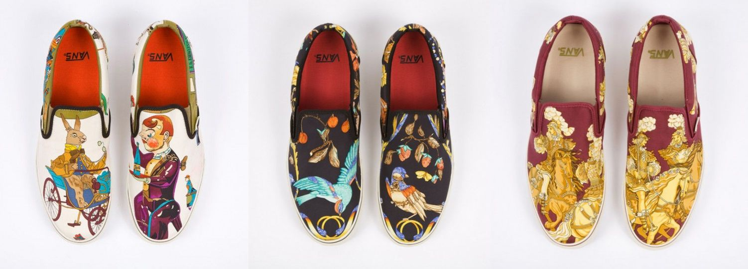 fa066ebf6f7 Hermès Custom Vans Slip-Ons