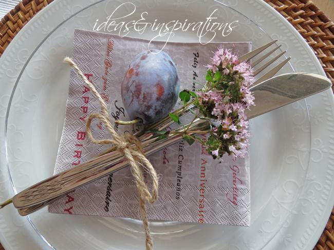 Sommer Tischdekoration basteln