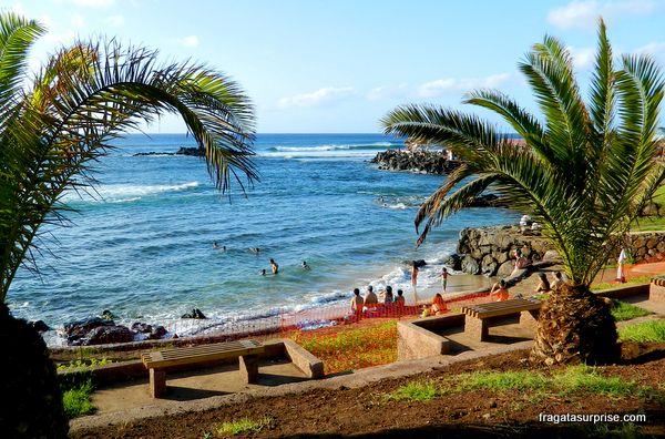 Ilha de Páscoa: Praia de Pea, em Hanga Roa