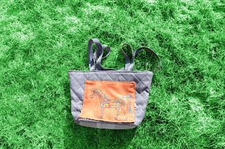 mandala koń torebka ręcznie malowana