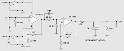 RF Amplifier with Op-Amp Circuit