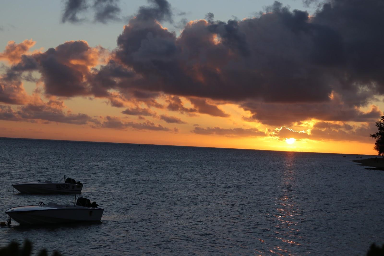 Sunset, Heritage Le Telfair Hotel, Mauritius