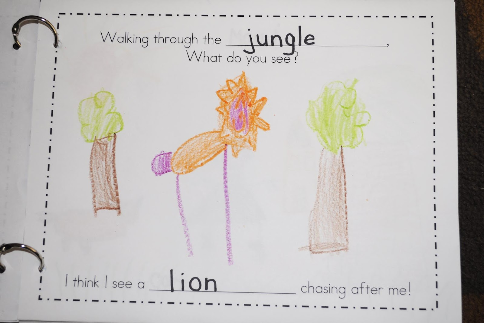 Mrs Ricca S Kindergarten Walking Through The Jungle