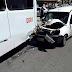 Acidente entre ônibus e carro na av. Engenheiro Roberto Freire em frente ao hotel Majestic.