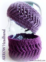 how to crochet, crochet patterns, headbands, ear warmers, arrows,