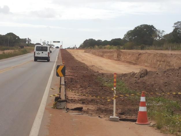 Obras de duplicação da Reta Tabajara se estendem desde 2014. Reprodução