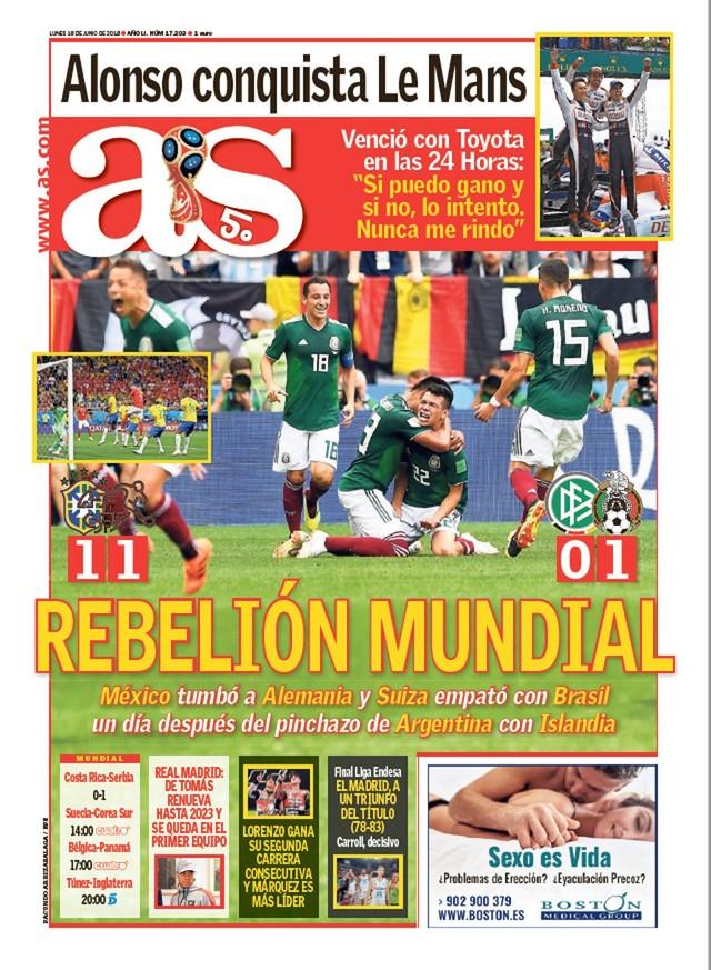 """Capa jornal As zebras na Copa (Foto  Reprodução) Com o título de """"Rebelião  Mundial"""" ec8c51694912d"""