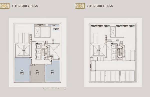 Crown @ Robinson 4th and 5th Storey Floor Plans