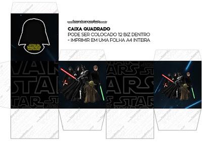 Caja Cubo para Imprimir Gratis de Star Wars.