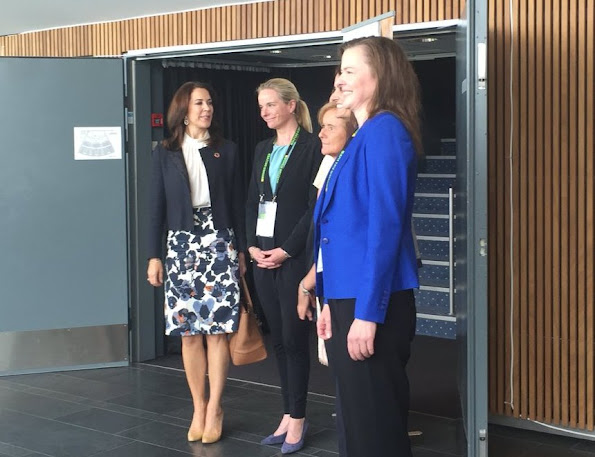 Crown Princess Mary attends the side event Delivering as One – Global Partnerships for Global goals.