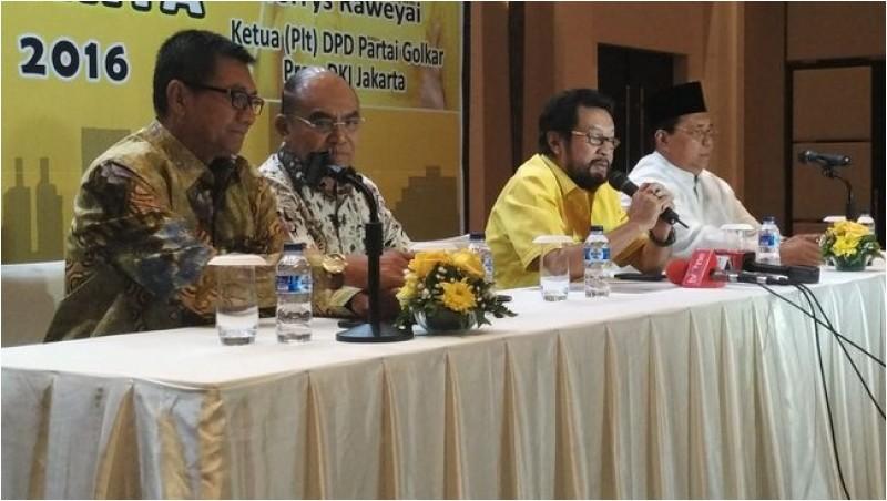 Deklarasi dukungan Golkar terhadap Ahok di Pilgub DKI 2017