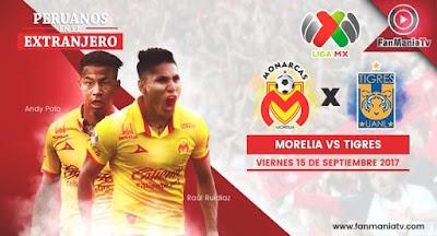 Ver Monarcas Morelia vs Tigres UANL - Liga MX Apertura 2017 En Vivo y Gratis