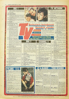 Back cover page of the Sunday Sport newspaper from 13th March 88