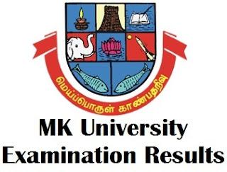 MK University Distance Education Result 2017