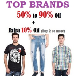 777467393 Top Brand Men s Clothing – Min 50% upto 90% Off   Snapdeal (Buy 2 or more Get  10% Extra Off)