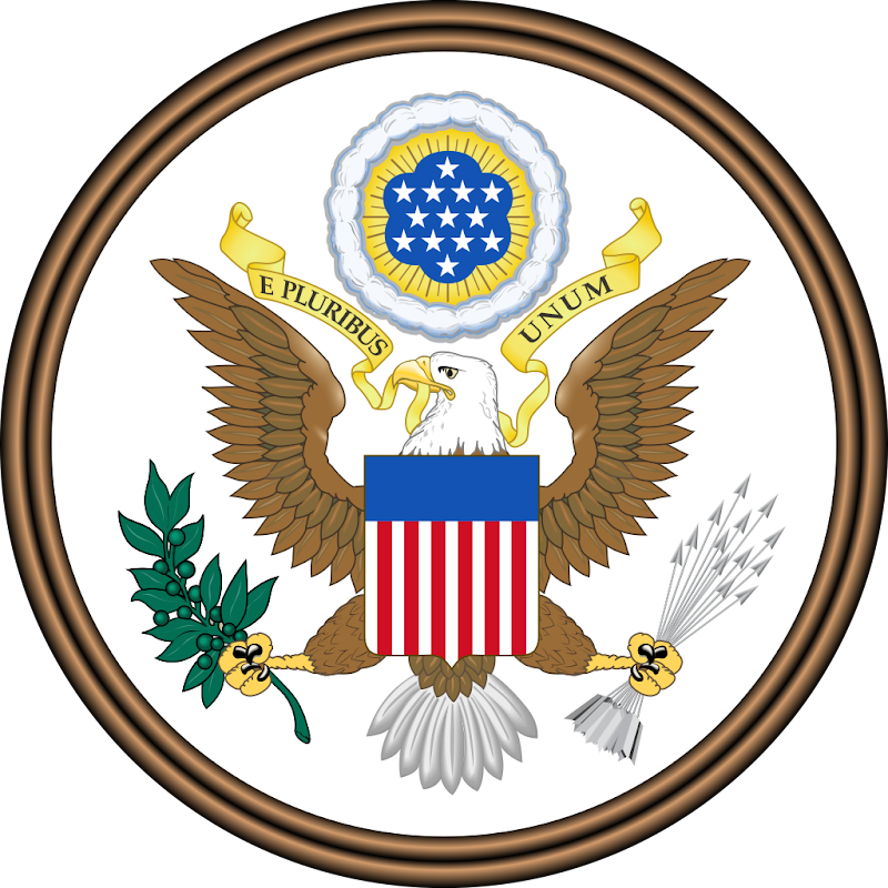 Logo Gambar Lambang Simbol Negara Amerika Serikat PNG JPG ukuran 800 px