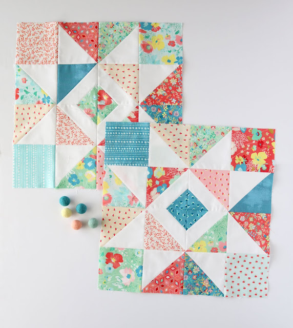 Shine Bright quilt blocks by Andy of A Bright Corner