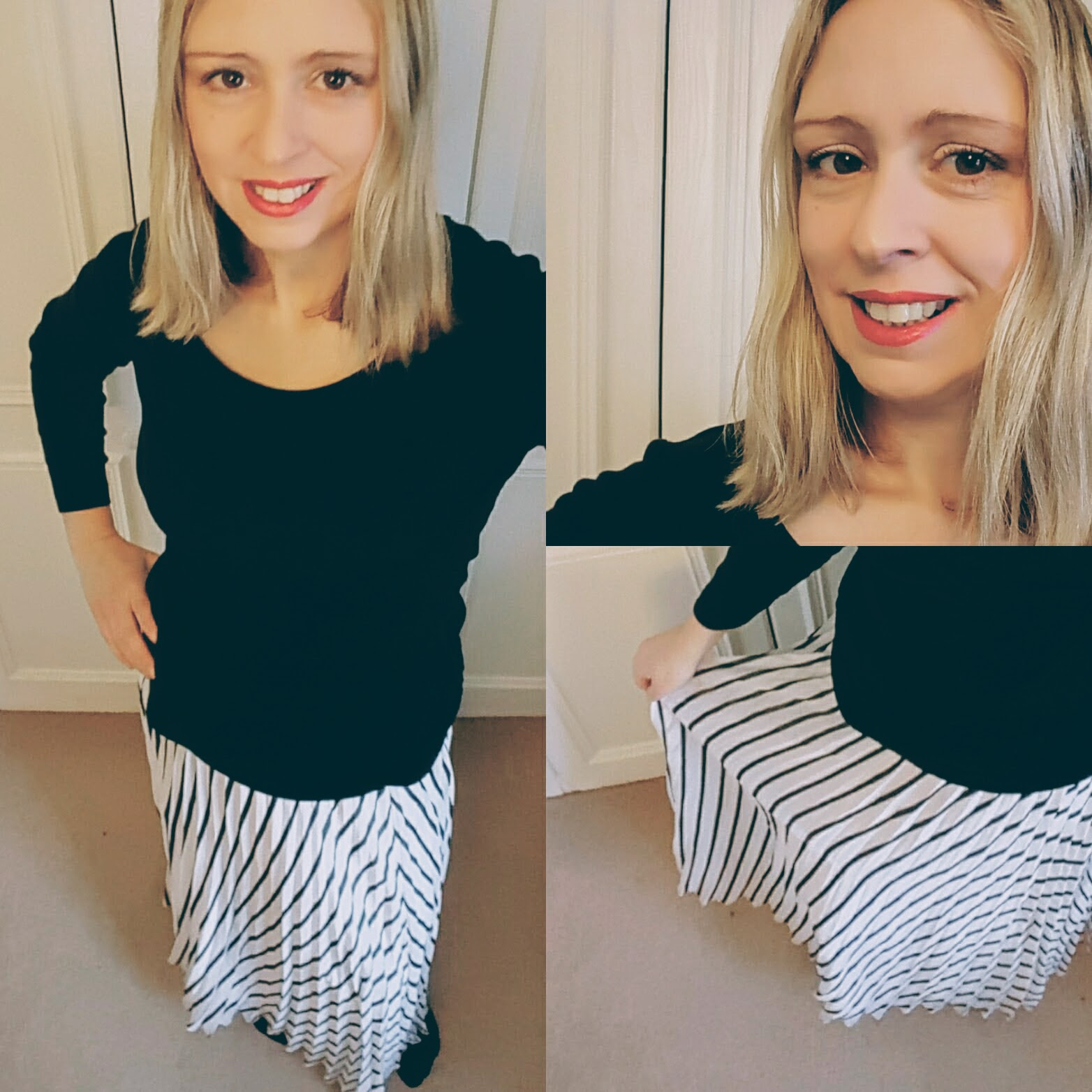 What I Wore: Stripy Summer Skirt And Comfy Converse
