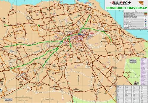 Edinburgh travel map