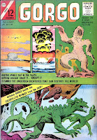 Gorgo v1 #16 charlton monster comic book cover art by Steve Ditko