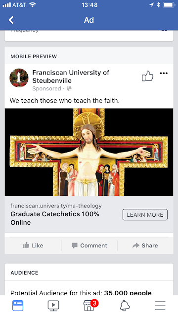 Franciscan University ad