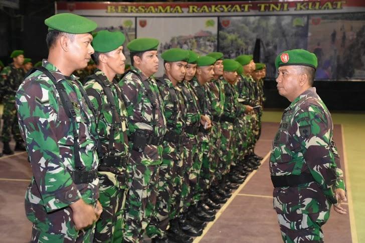 Pasi Ops Korem 141/Tp Mayor Kav Baso Sukri, Pimpin Apel  Pengamanan Pergantian Tahun Baru 2018 Ke 2019
