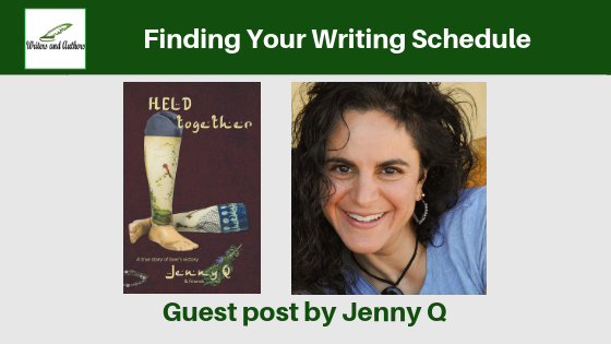 Finding Your Writing Schedule Guest post by Jenny Q. Includes giveaway! @iReadBookTours