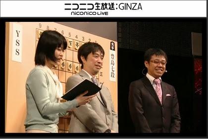 解説は久保利明 九段、野月浩貴 七段、聞き手は村田智穂女流二段、香川愛生女流王将です