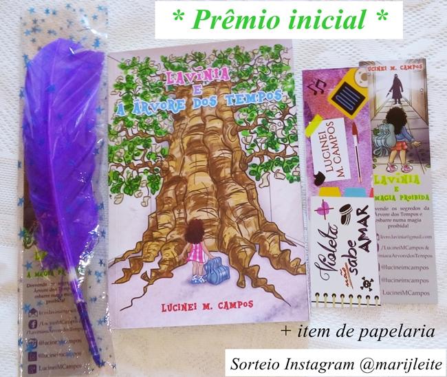 Sorteio valendo o livro Lavínia e a Árvore dos Tempos