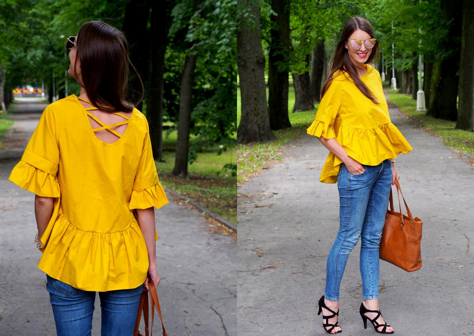 zaujmite okolie v trendy blúzke // lattice-back ruffles blouse