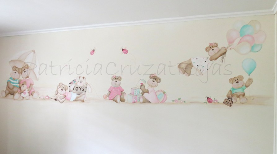 Patricia cruzat artesania y color tierno mural de osit s for Mural para habitacion