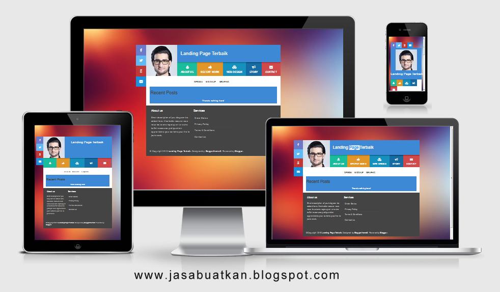 Jasa Landing Page Blogspot Murah