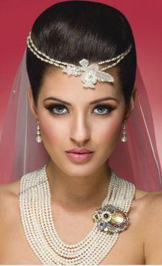 bonita maquiagem de noiva
