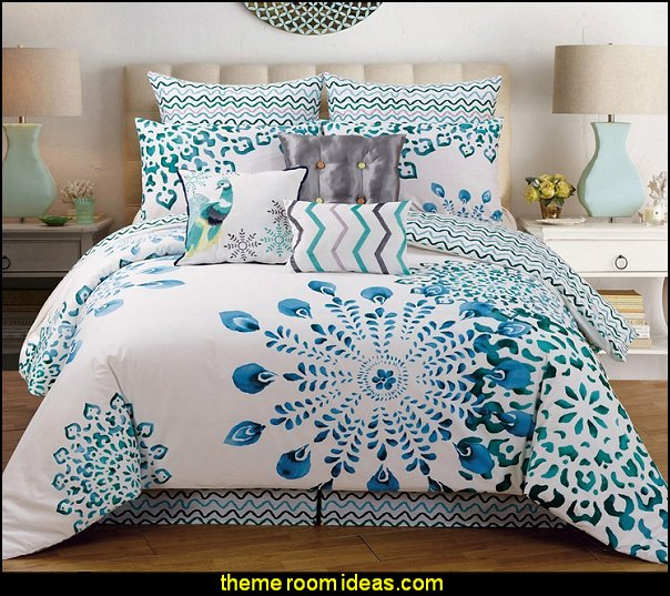 peacock Polona Cotton Comforter Set