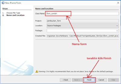6 - Tutorial 3 Pemrograman Java Netbeans - Cara Menciptakan Form