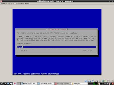 Sistema configurando placa de rede