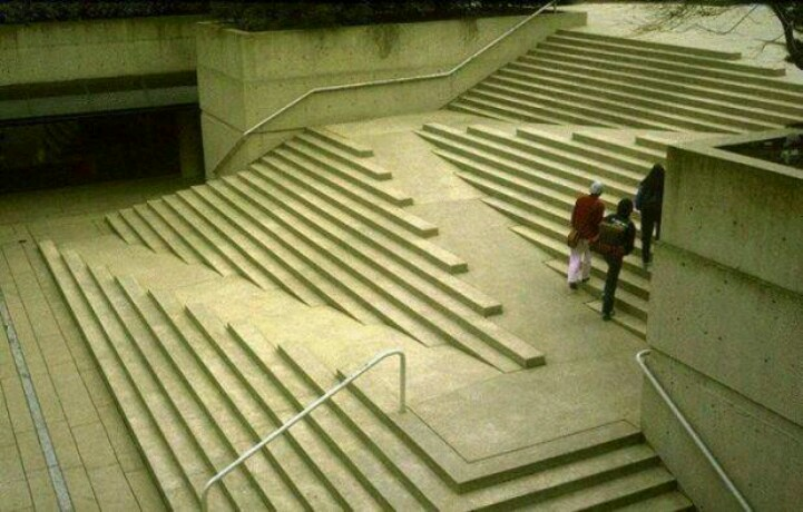 Adventures In Universal Design: That Viral Picture Of Ramps Set In Stairs