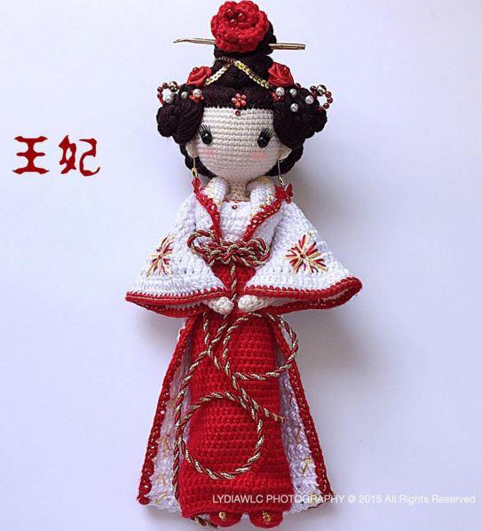 Amigurumi Geisha Tutorial : Deshilachado: Puntadas 530