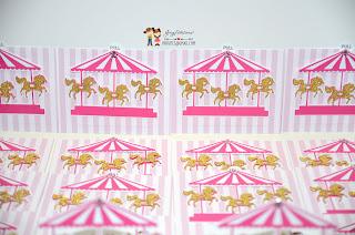 unicorn invitations, carousel birthday, unicorn party