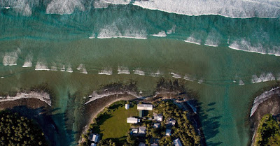 Marshall Islands being washed away by rising sea levels