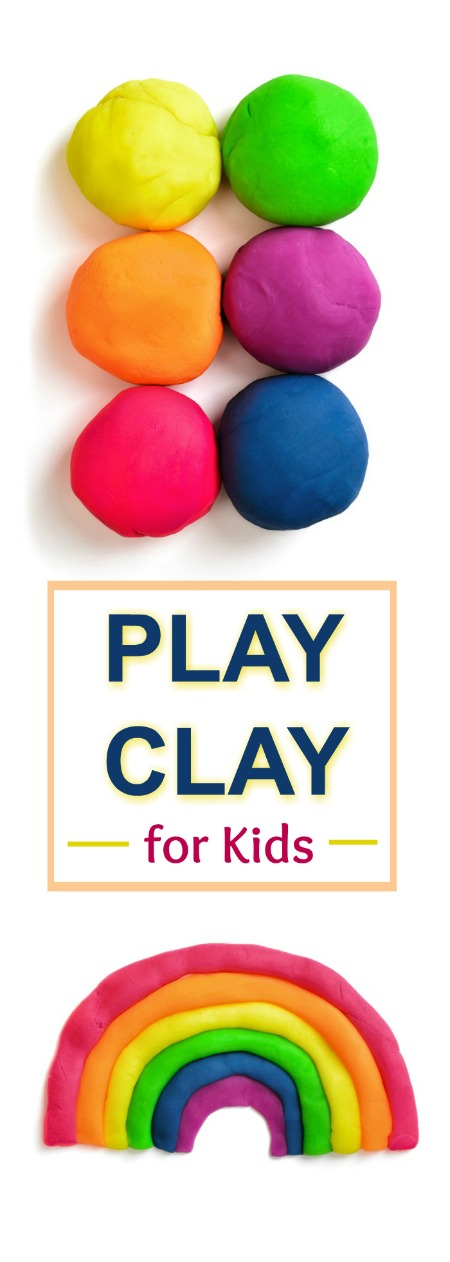2 INGREDIENT PLAY CLAY RECIPE FOR KIDS (no cook, easy recipe!)