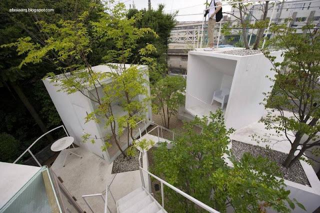 Sector de casa japonesa vanguardista